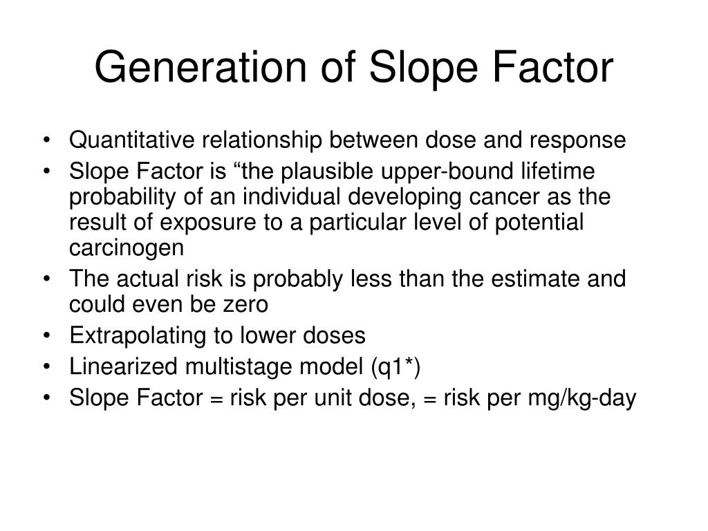 Generation of Slope Factor