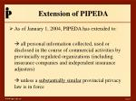extension of pipeda