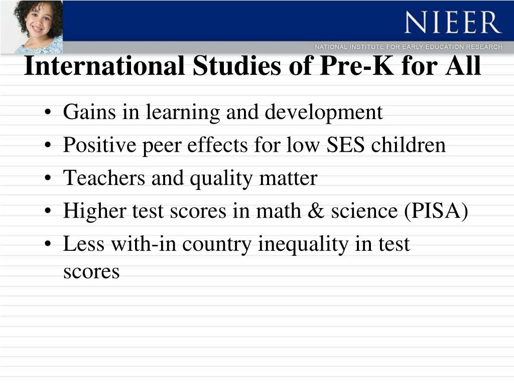 International Studies of Pre-K for All