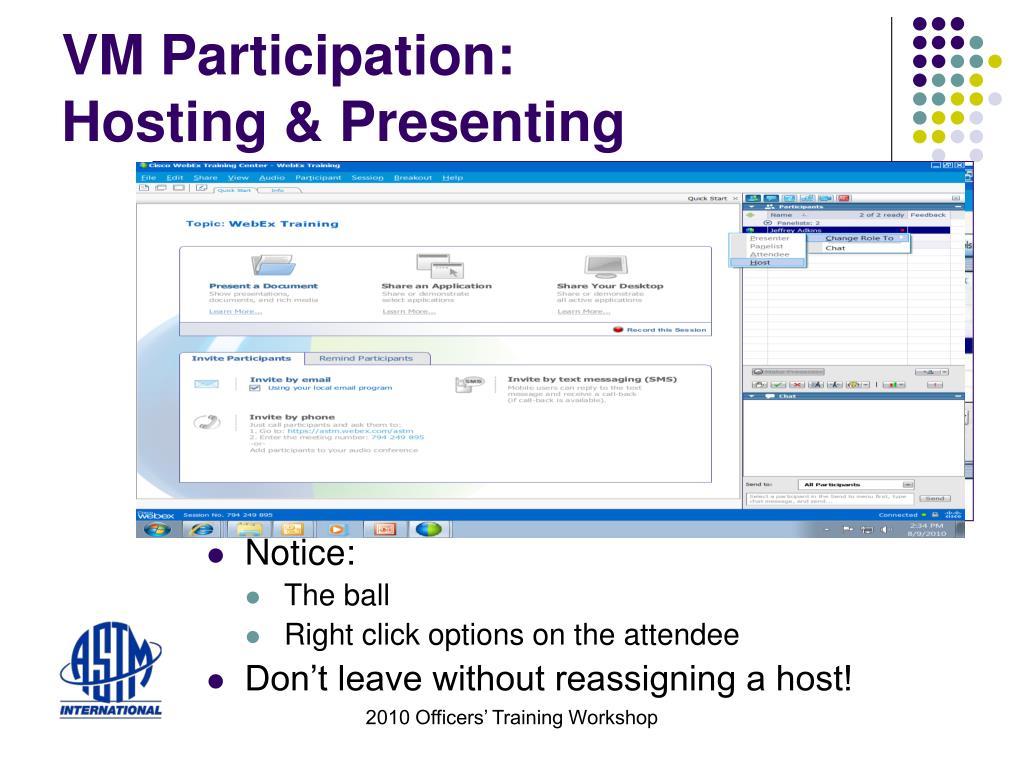 VM Participation: