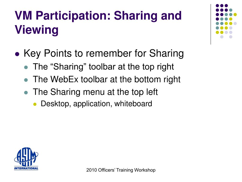 VM Participation: Sharing and Viewing