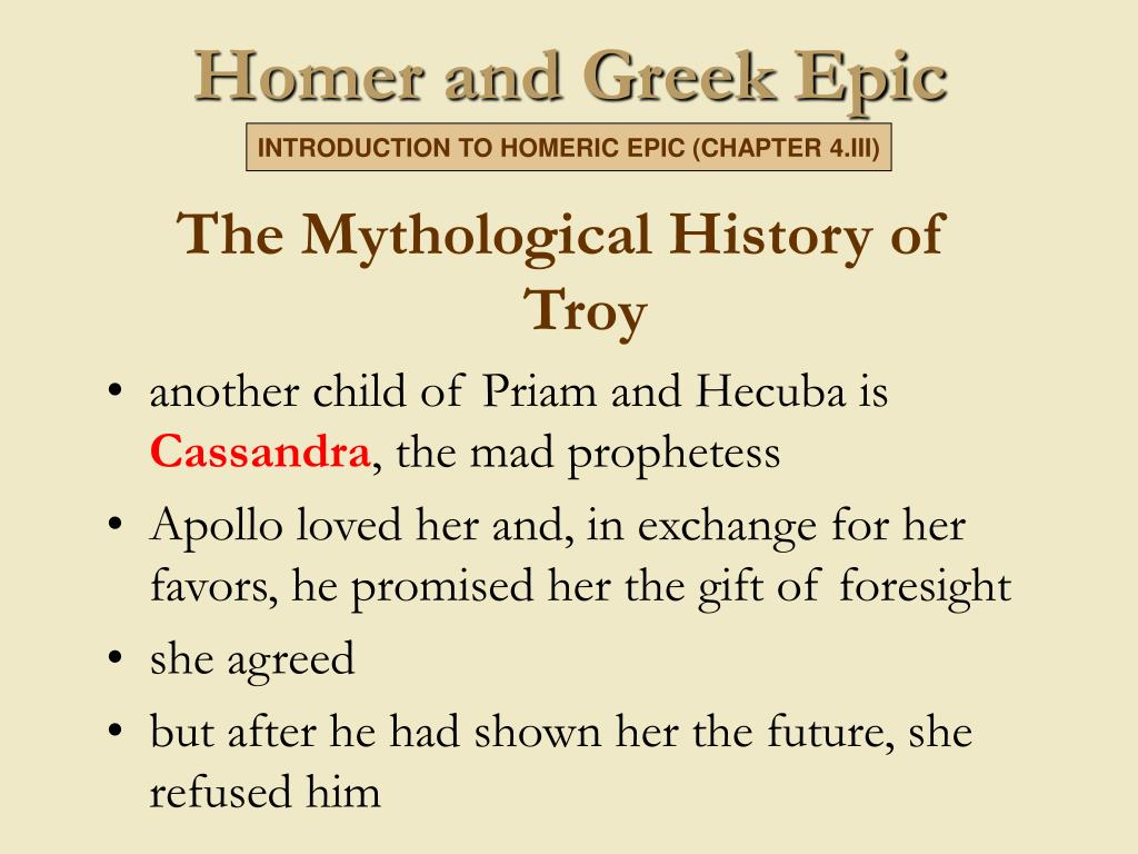 The Mythological History of Troy
