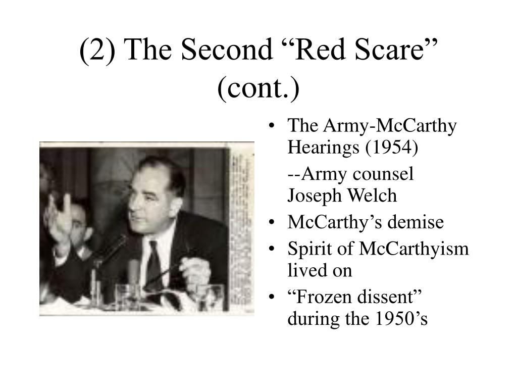 "(2) The Second ""Red Scare"" (cont.)"
