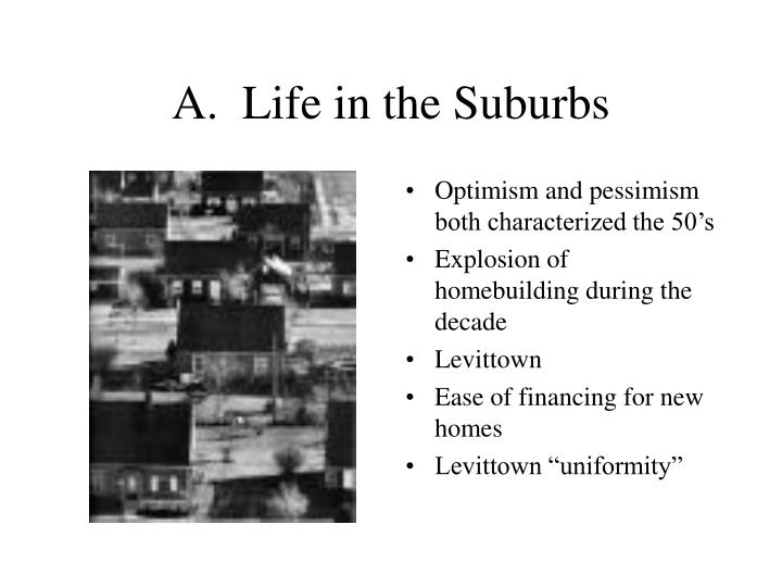 A life in the suburbs