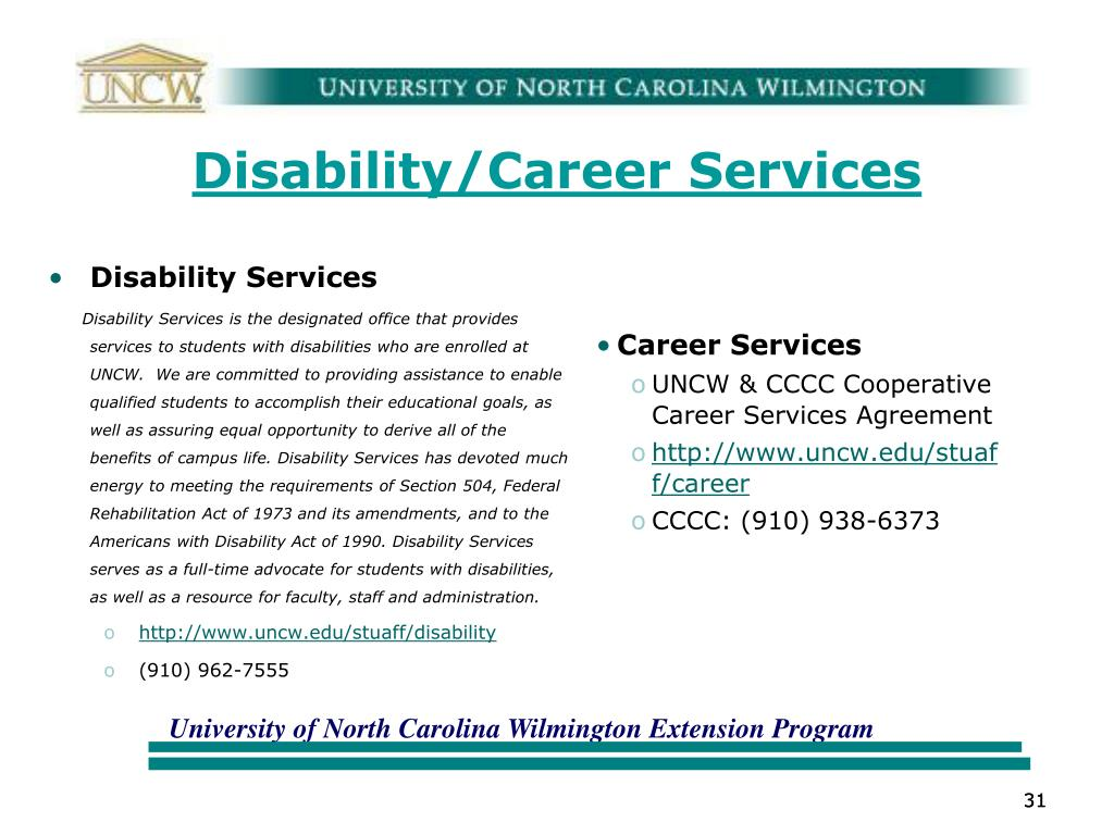 Disability/Career Services
