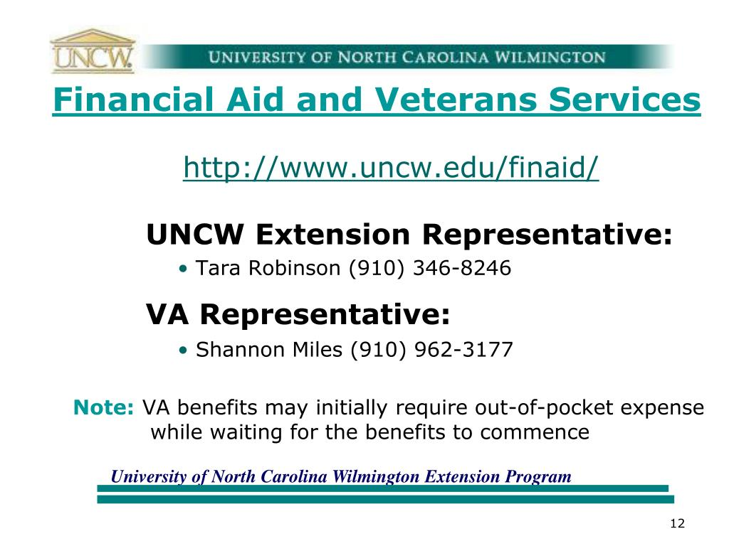 Financial Aid and Veterans Services