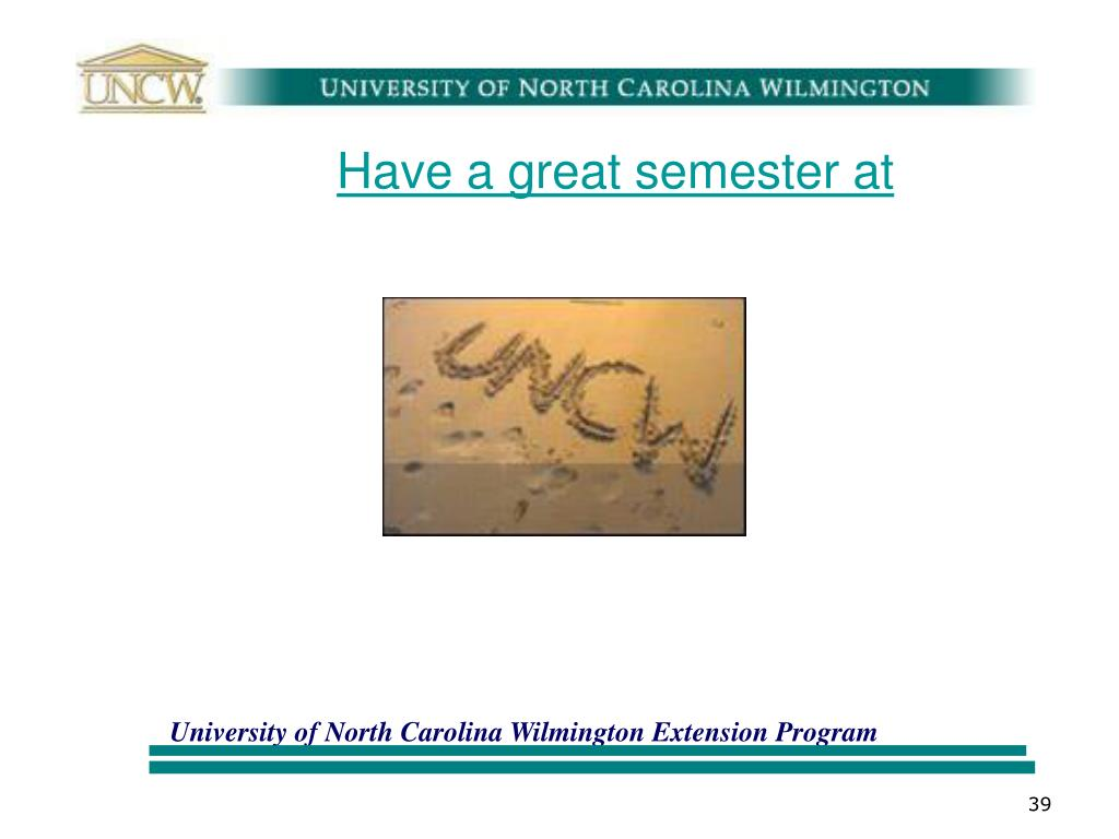 Have a great semester at