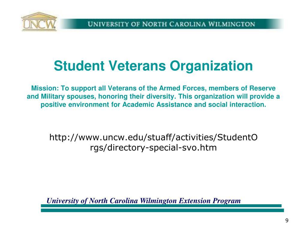 Student Veterans Organization