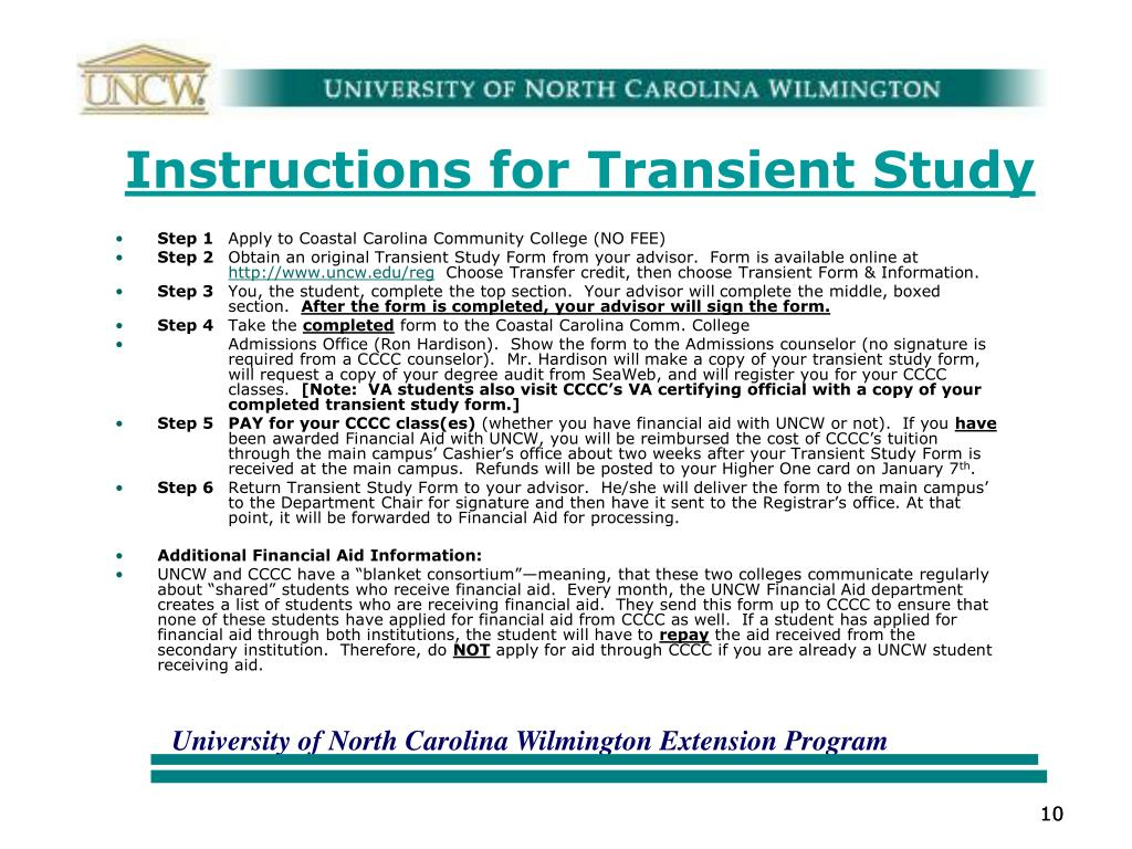 Instructions for Transient Study