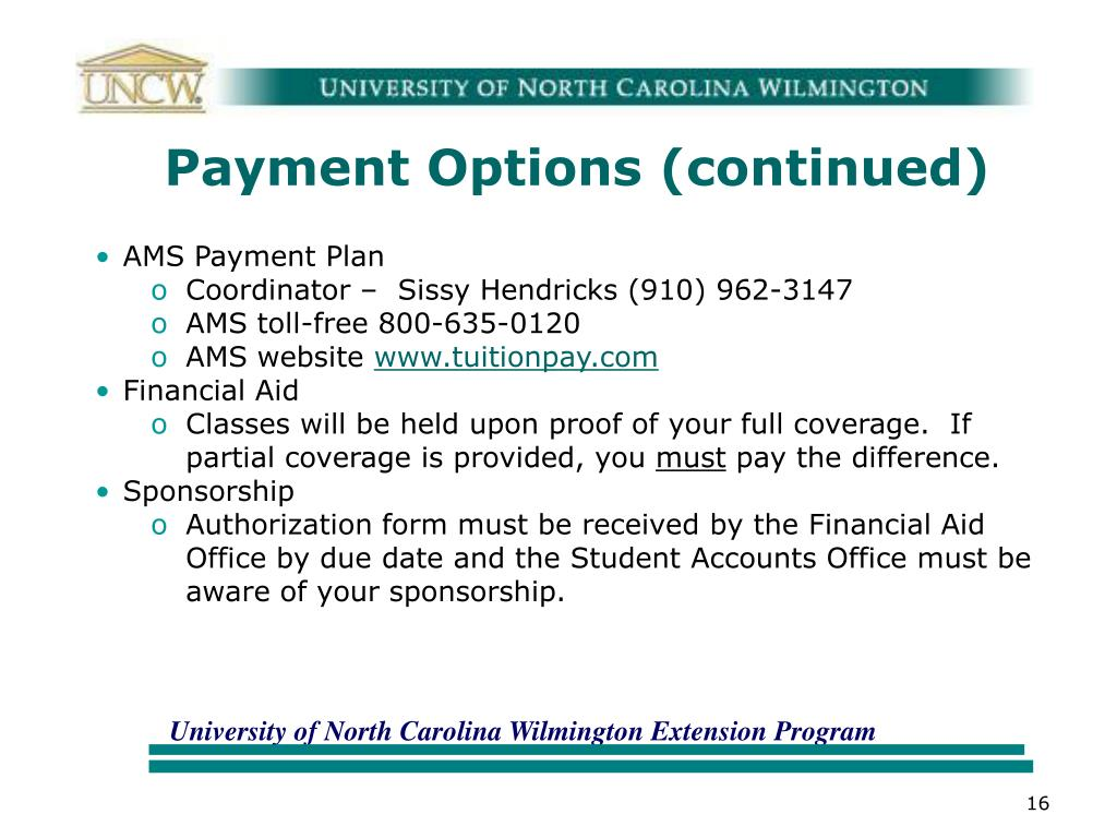 Payment Options (continued)