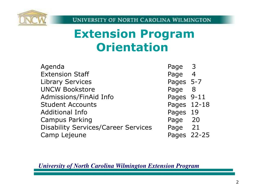 Extension Program Orientation