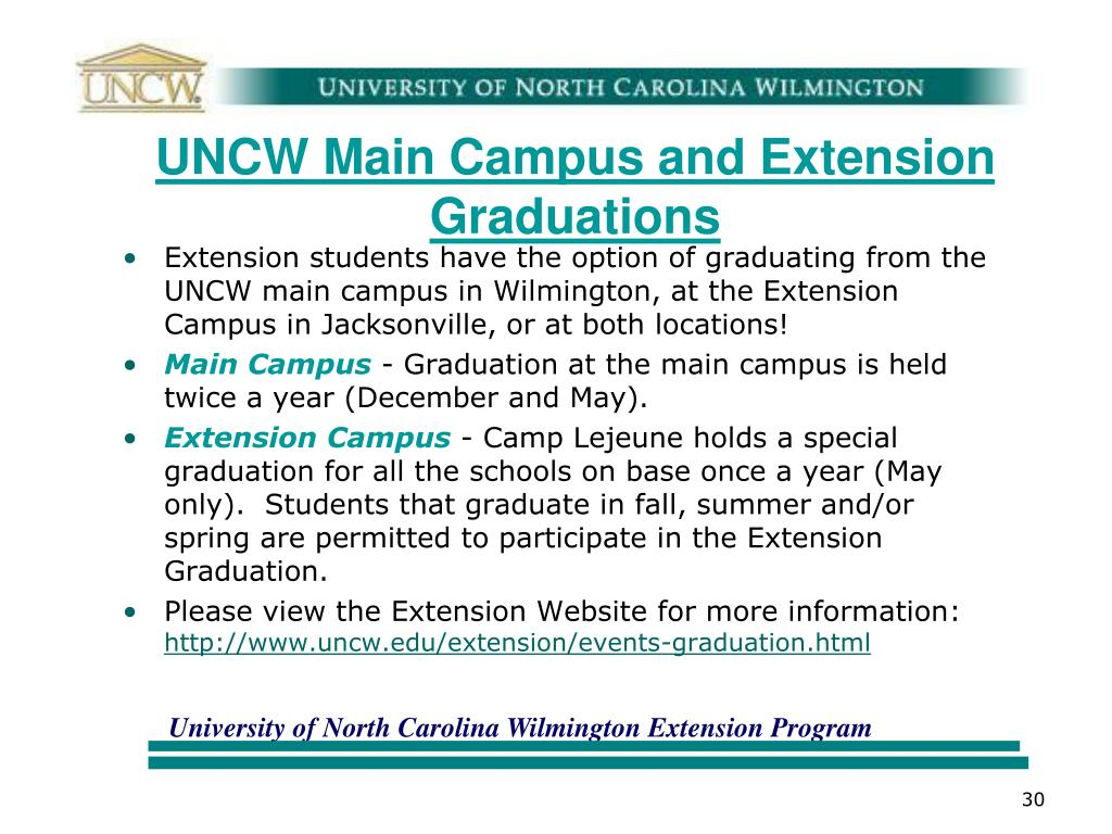 UNCW Main Campus and Extension Graduations
