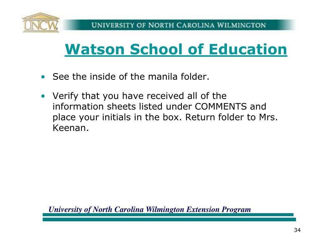 Watson School of Education