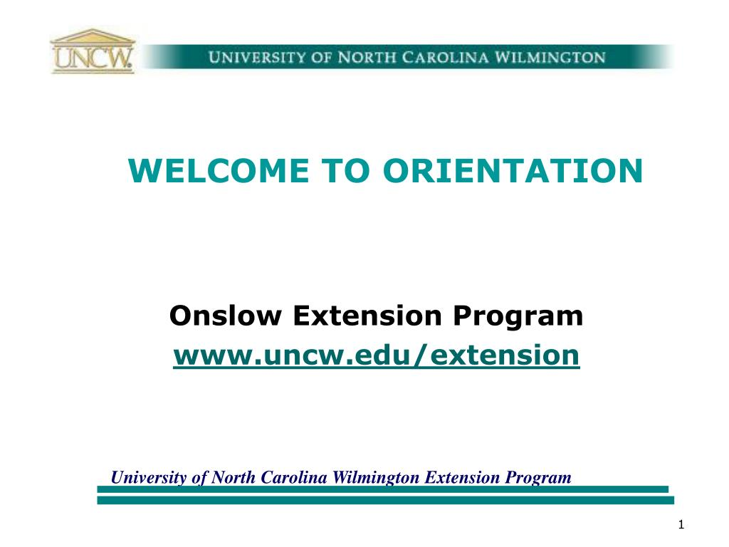 WELCOME TO ORIENTATION