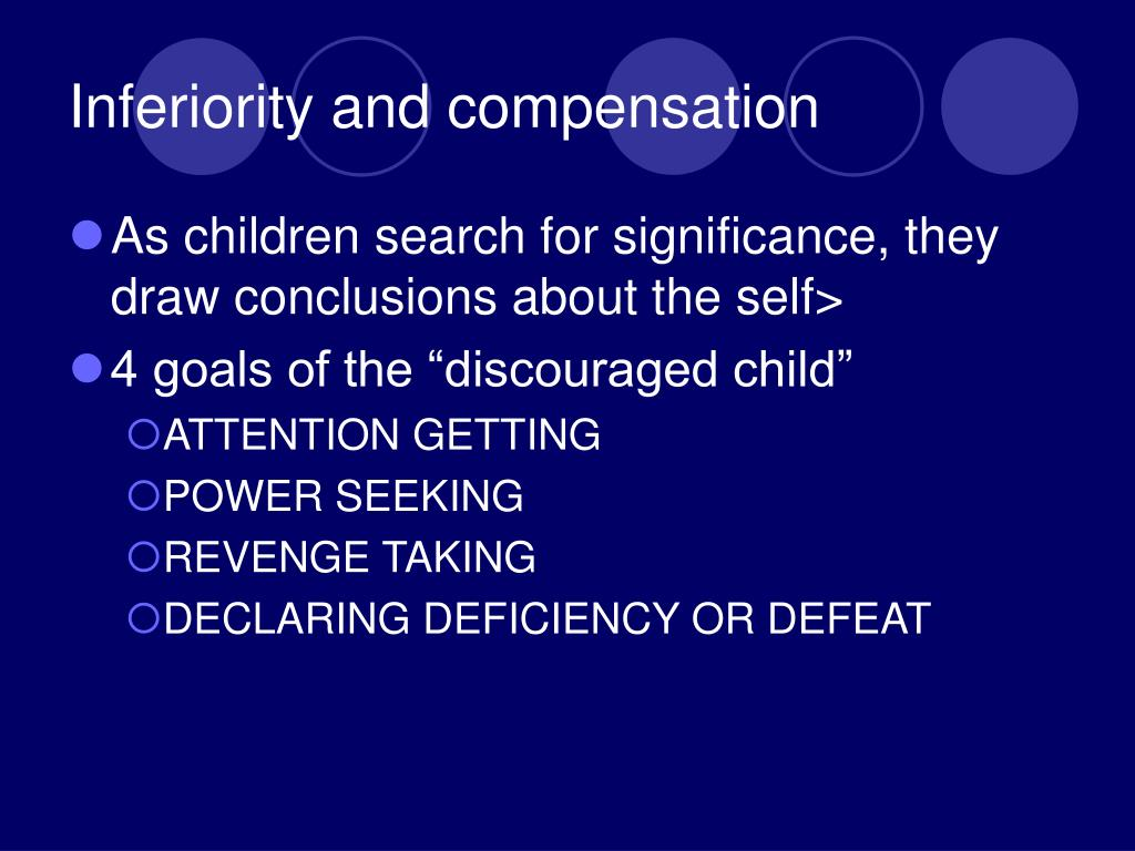 Inferiority and compensation