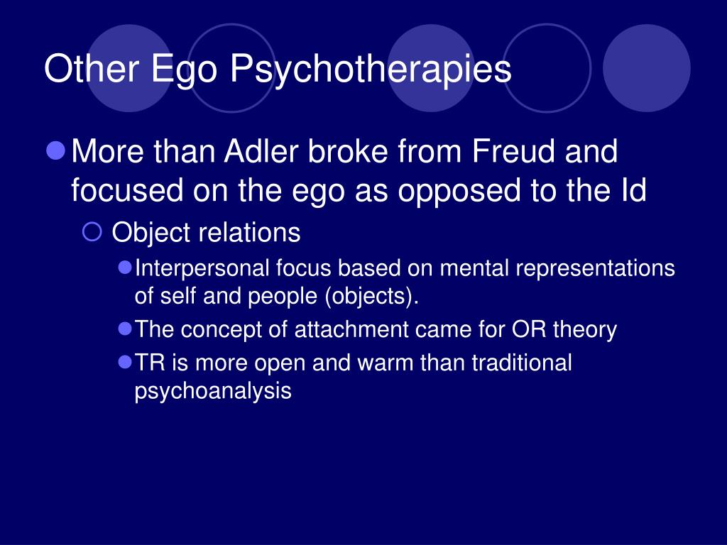 Other Ego Psychotherapies