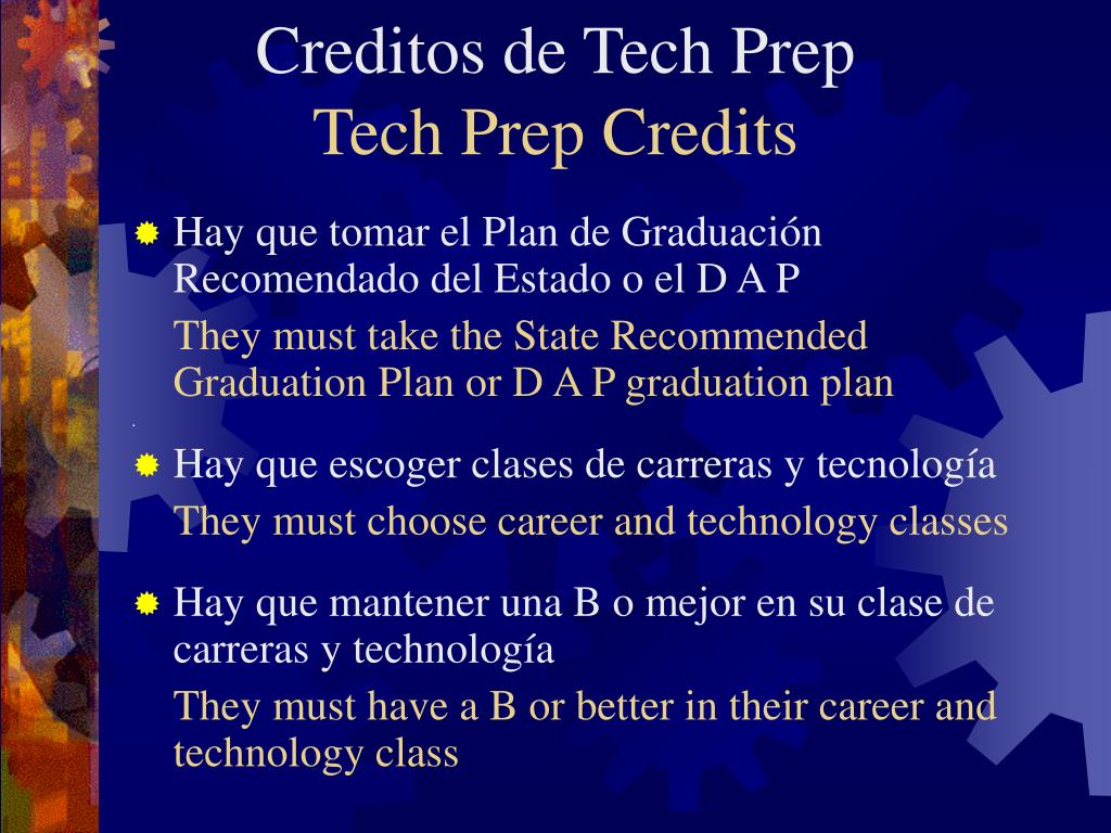 Creditos de Tech Prep