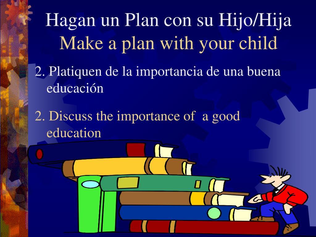 Hagan un Plan con su Hijo/Hija