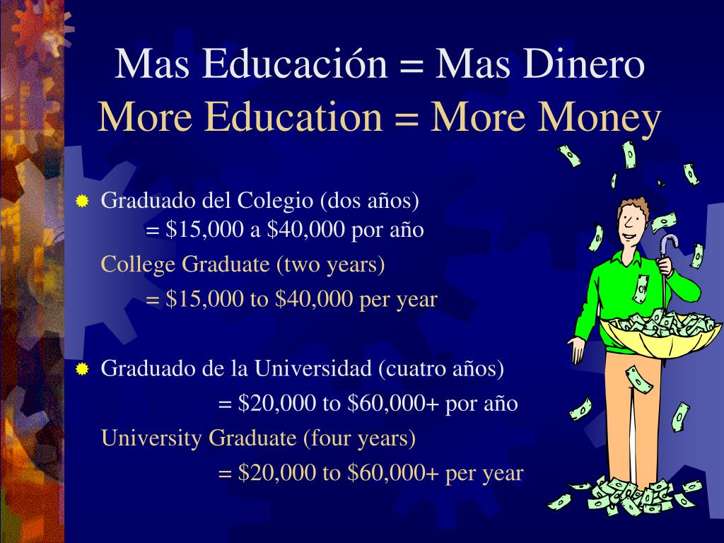 Mas Educación = Mas Dinero