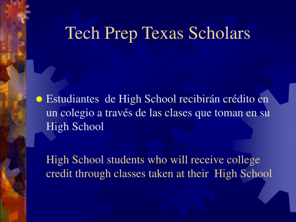 Tech Prep Texas Scholars