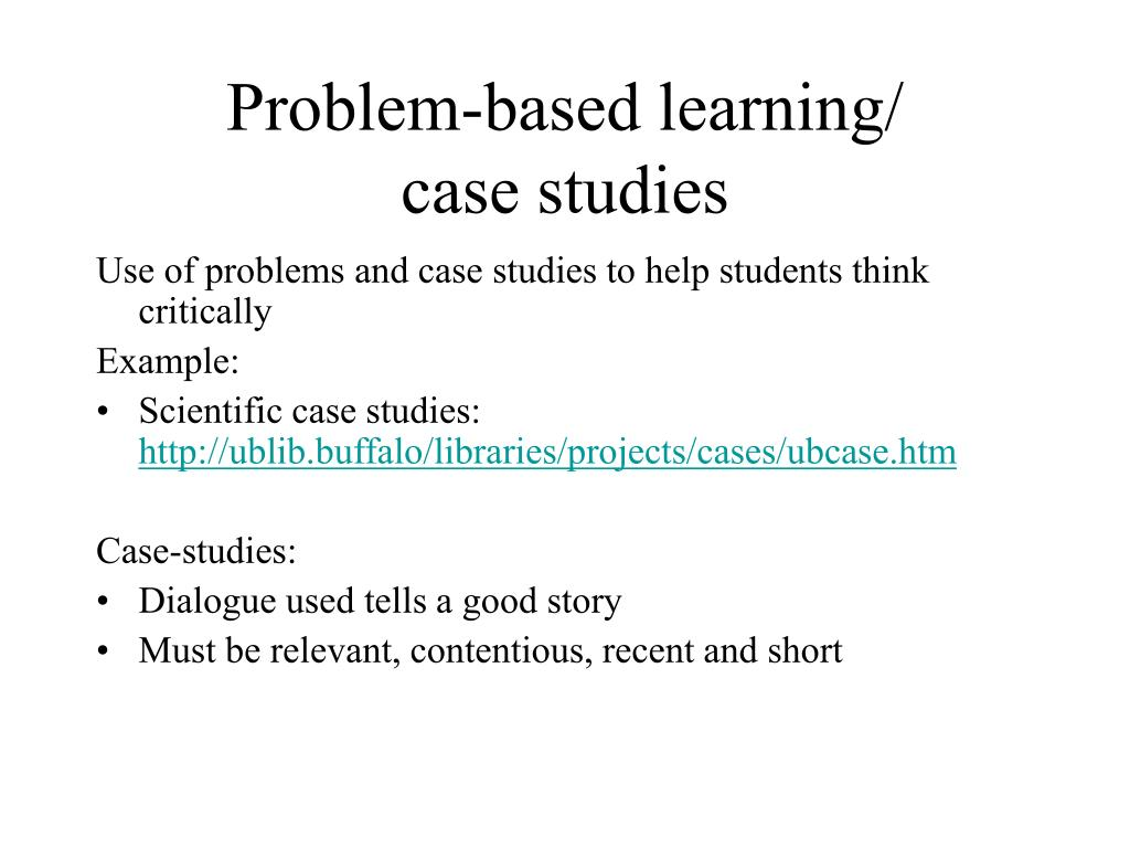 Problem-based learning/