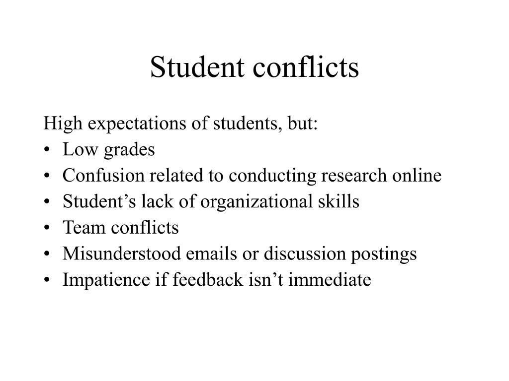 Student conflicts