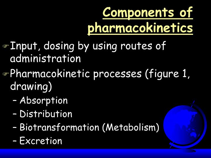 Components of pharmacokinetics l.jpg