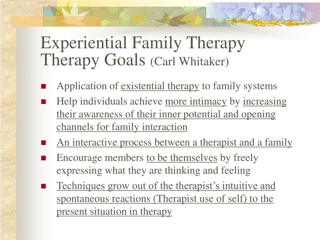 experiential family members treatment in carl whitaker essay