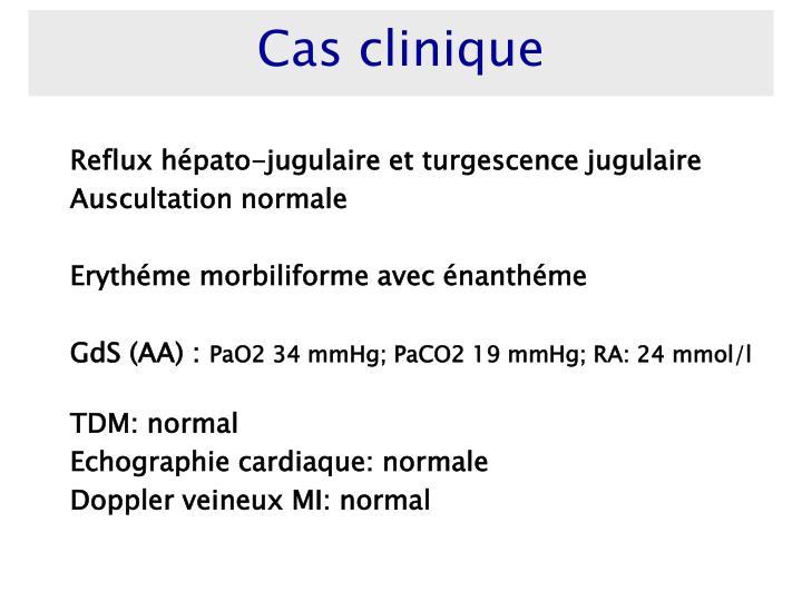 Reflux hépato-jugulaire et turgescence jugulaire