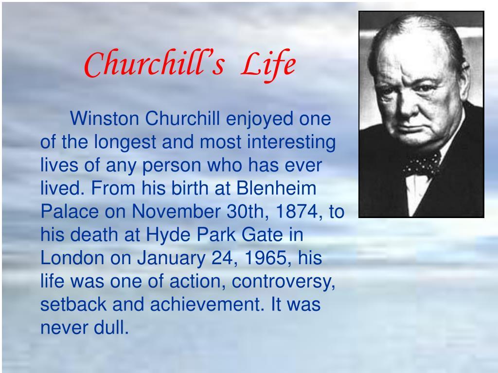 Churchill's  Life