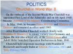 politics churchill in world war
