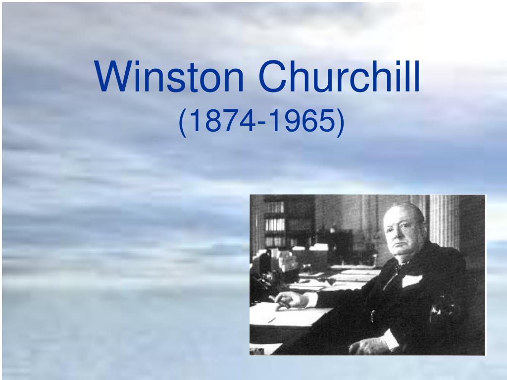 winston churchill 1874 1965