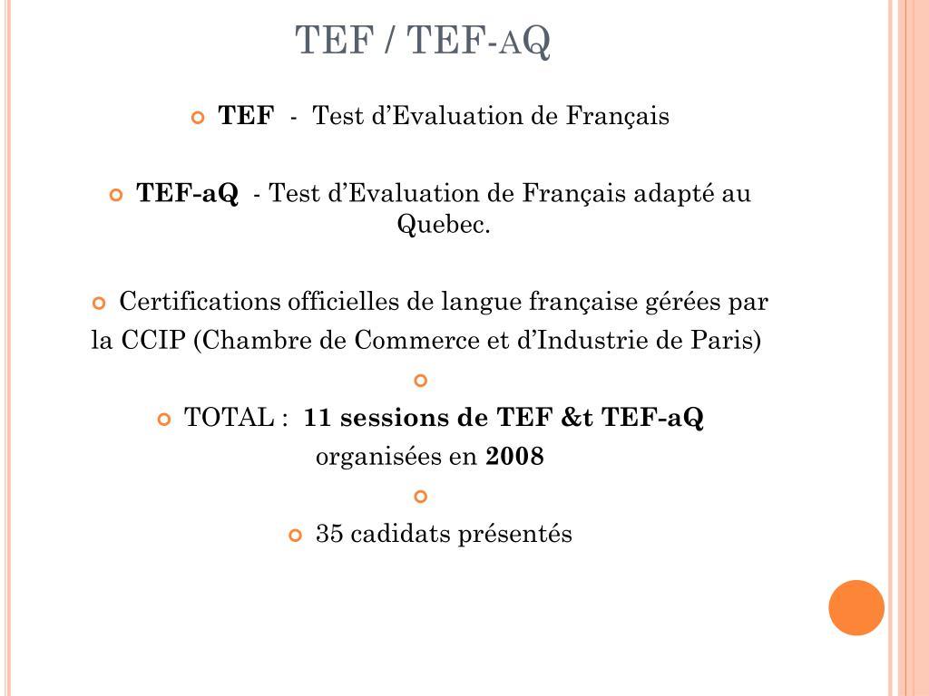 TEF / TEF-