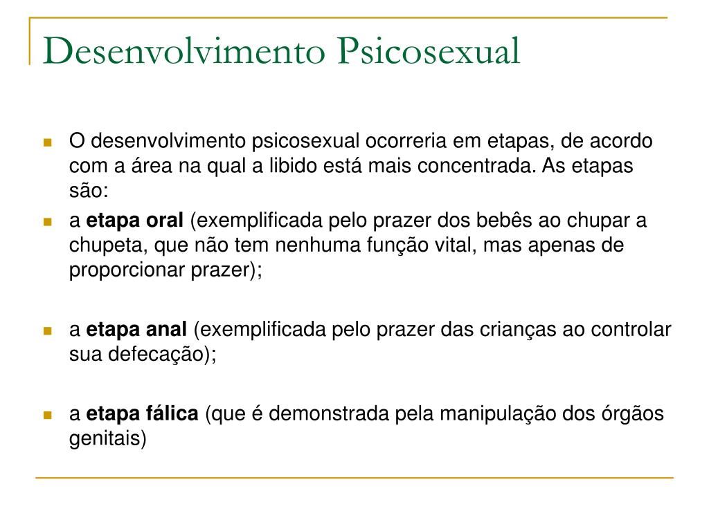 Desenvolvimento Psicosexual