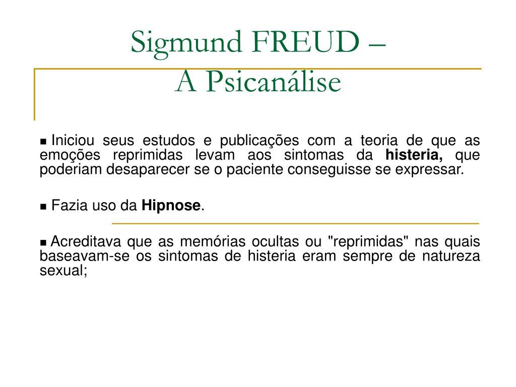 Sigmund FREUD –