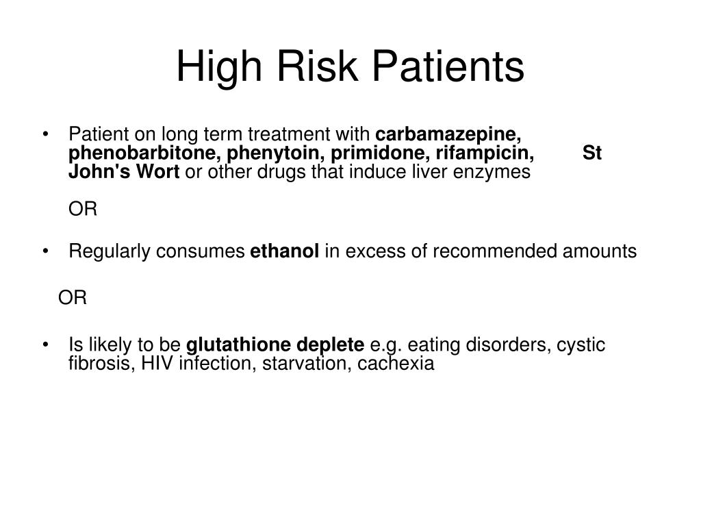 High Risk Patients