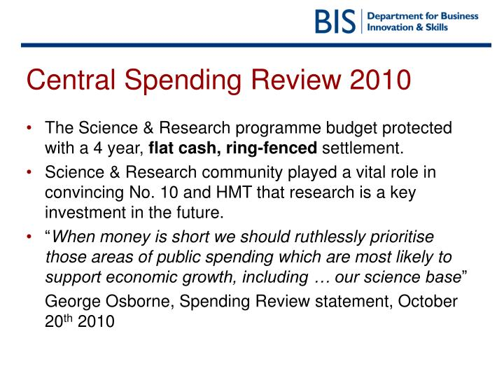 Central spending review 2010