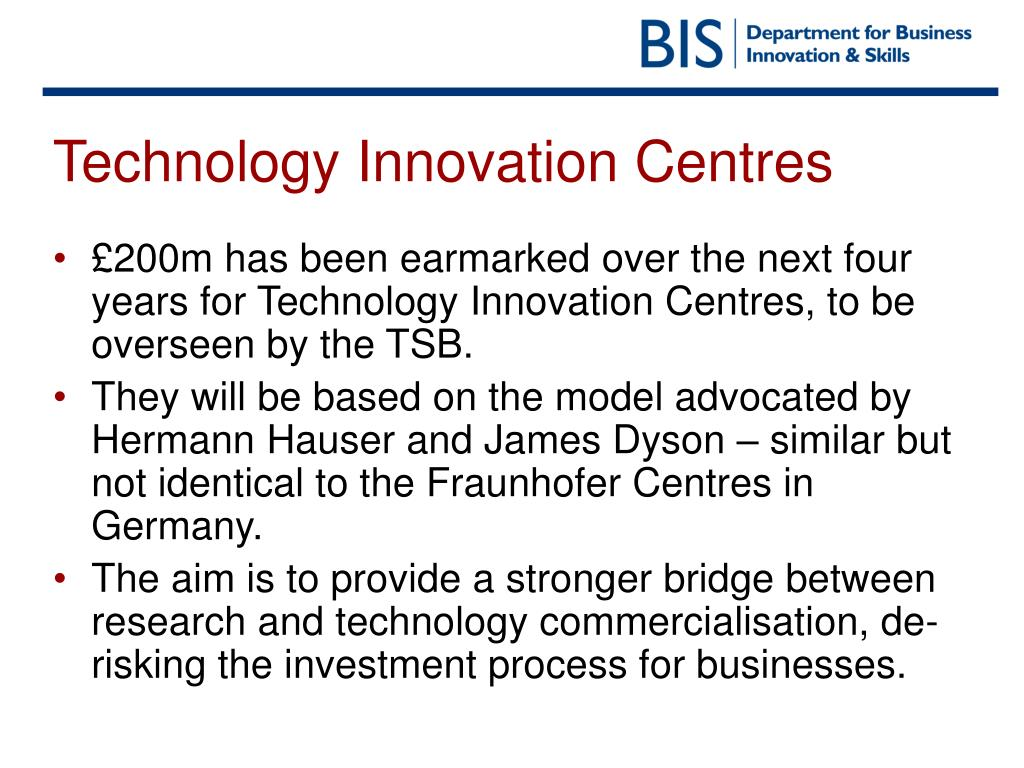 Technology Innovation Centres