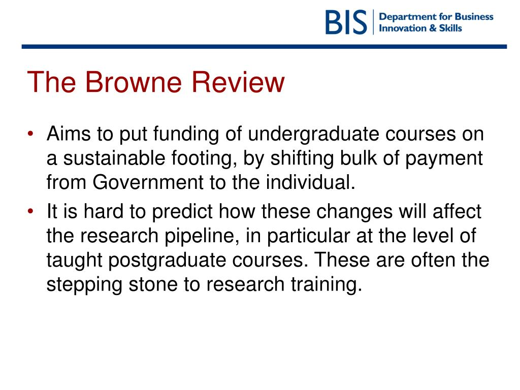 The Browne Review