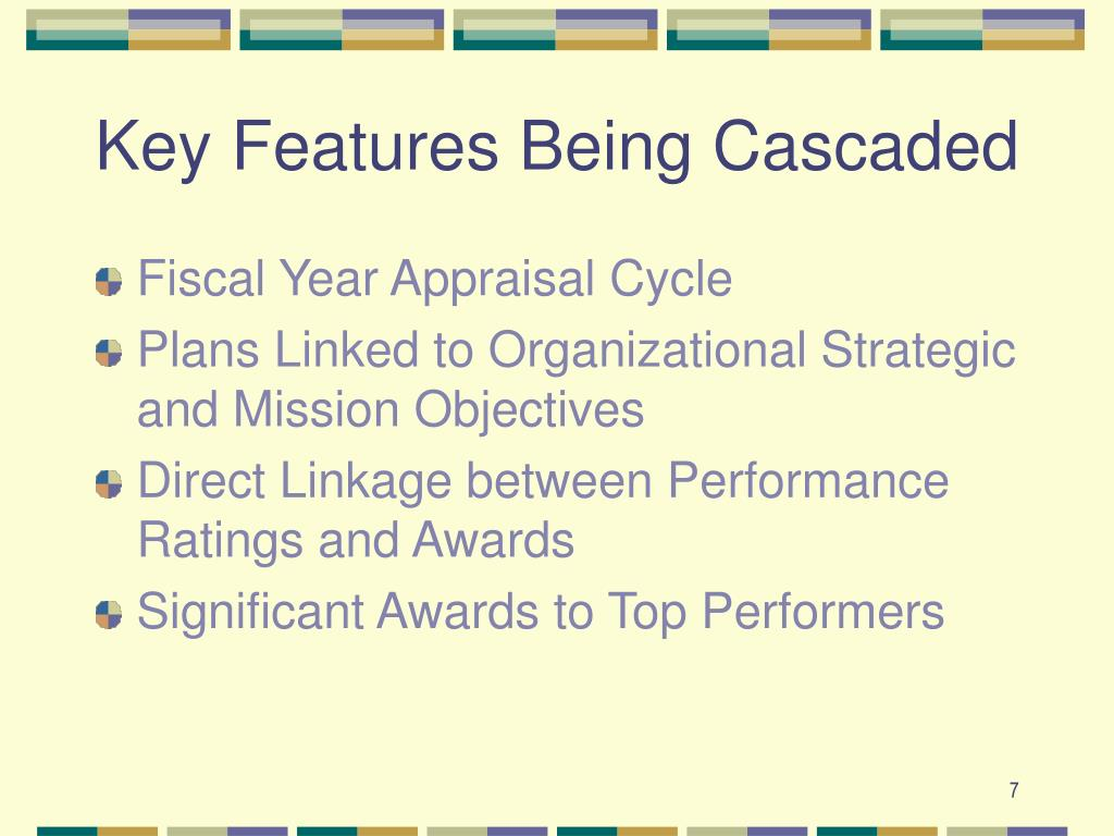 Key Features Being Cascaded