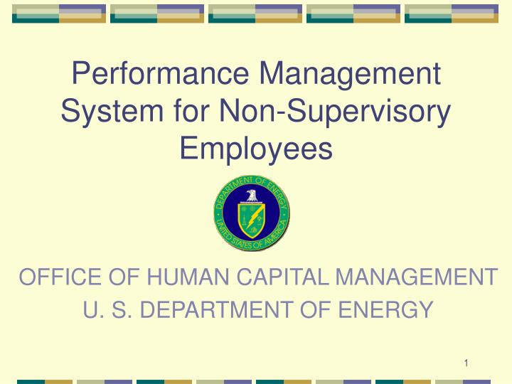 Office of human capital management u s department of energy l.jpg