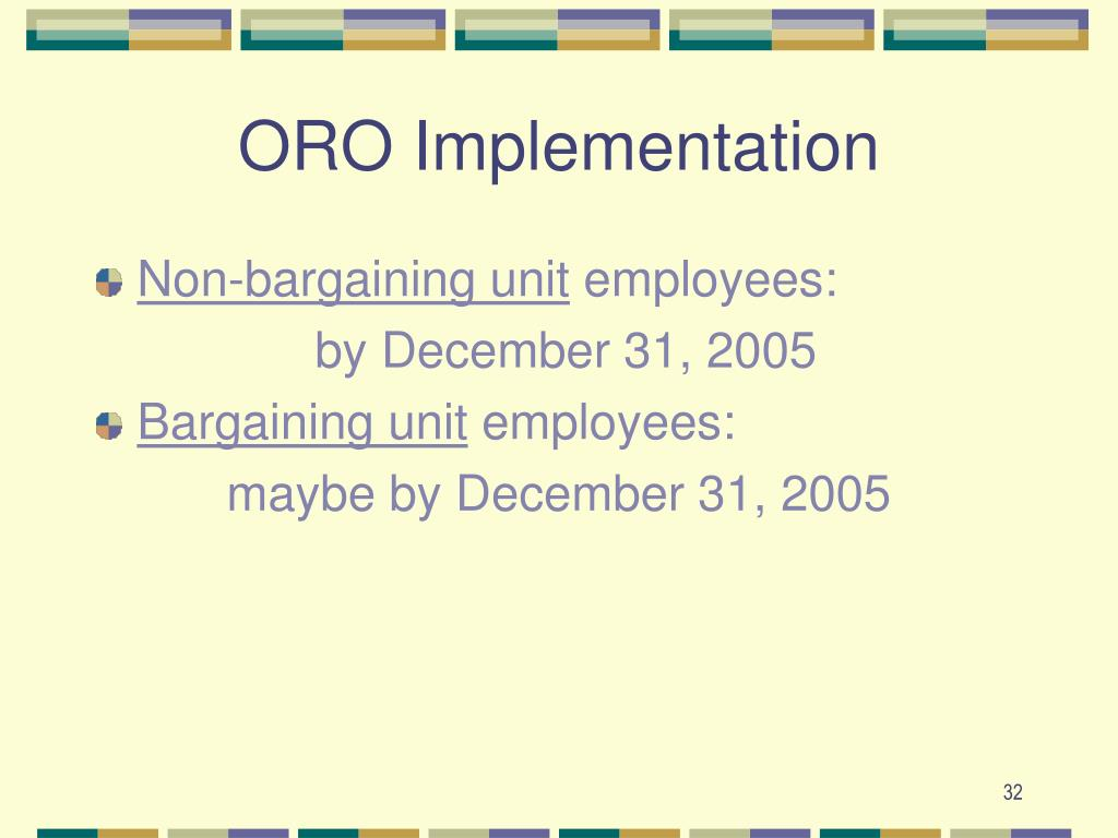 ORO Implementation