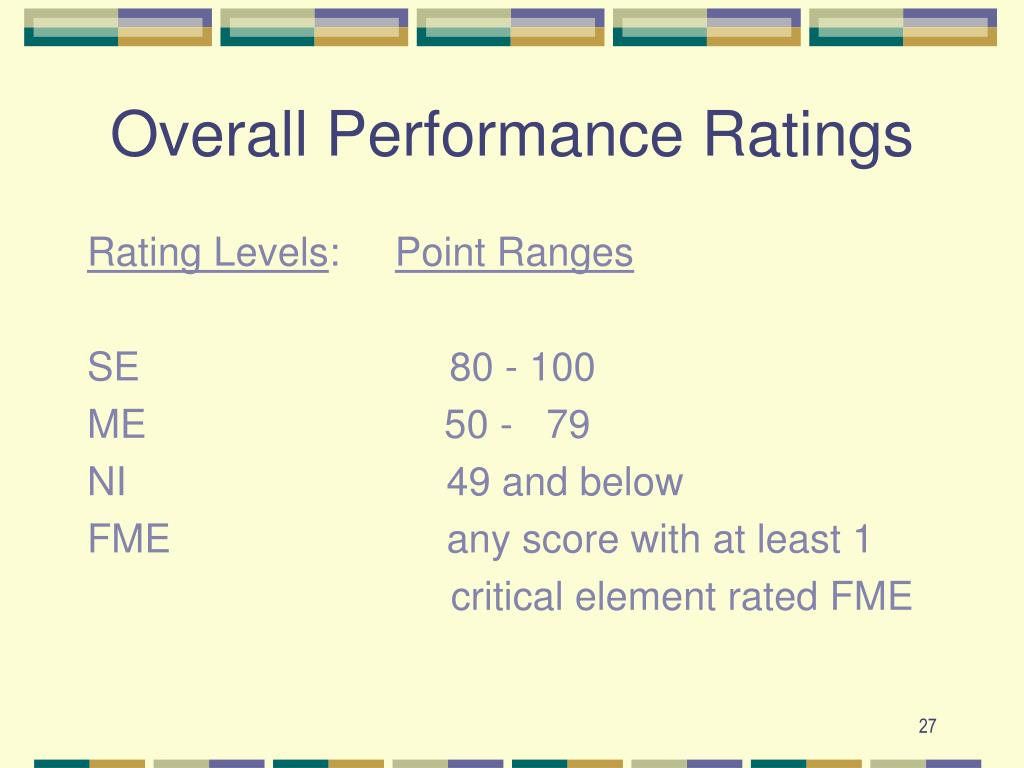 Overall Performance Ratings