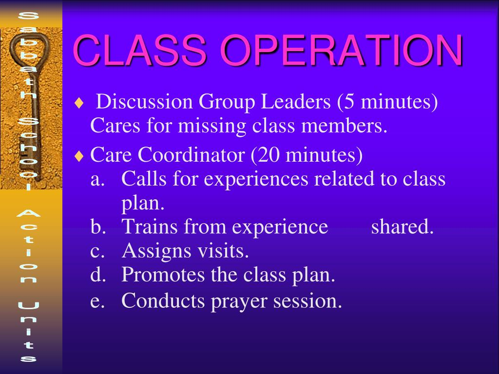 CLASS OPERATION