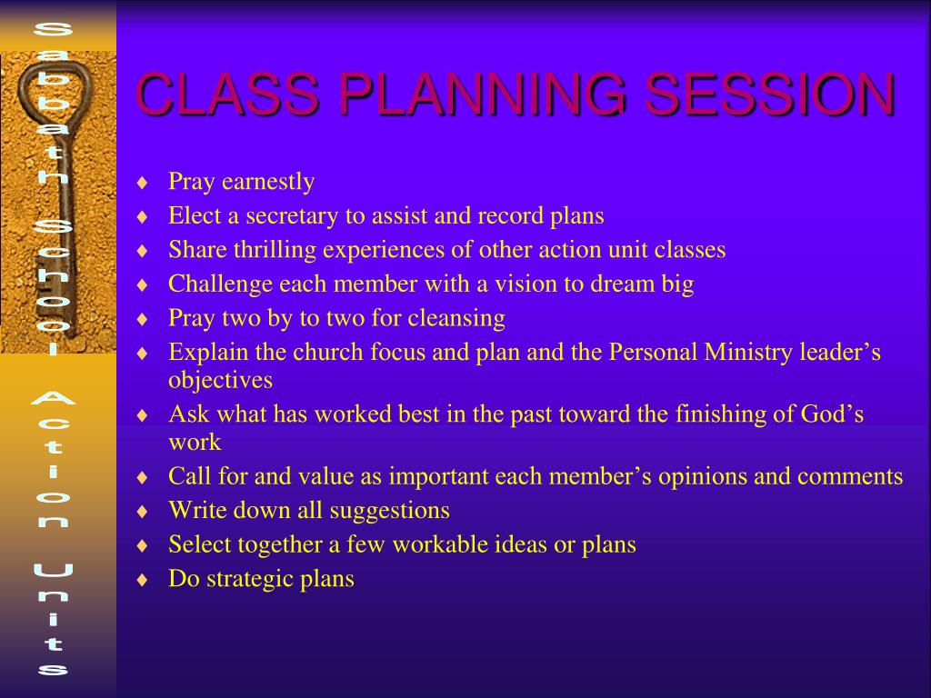 CLASS PLANNING SESSION