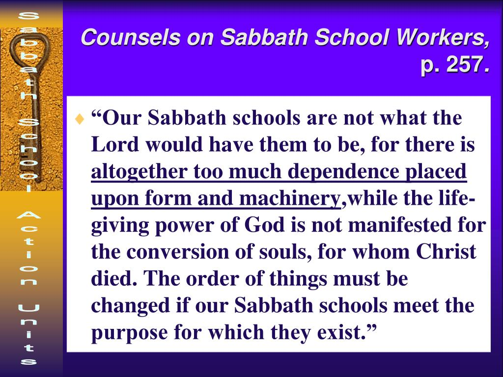 Counsels on Sabbath School Workers,