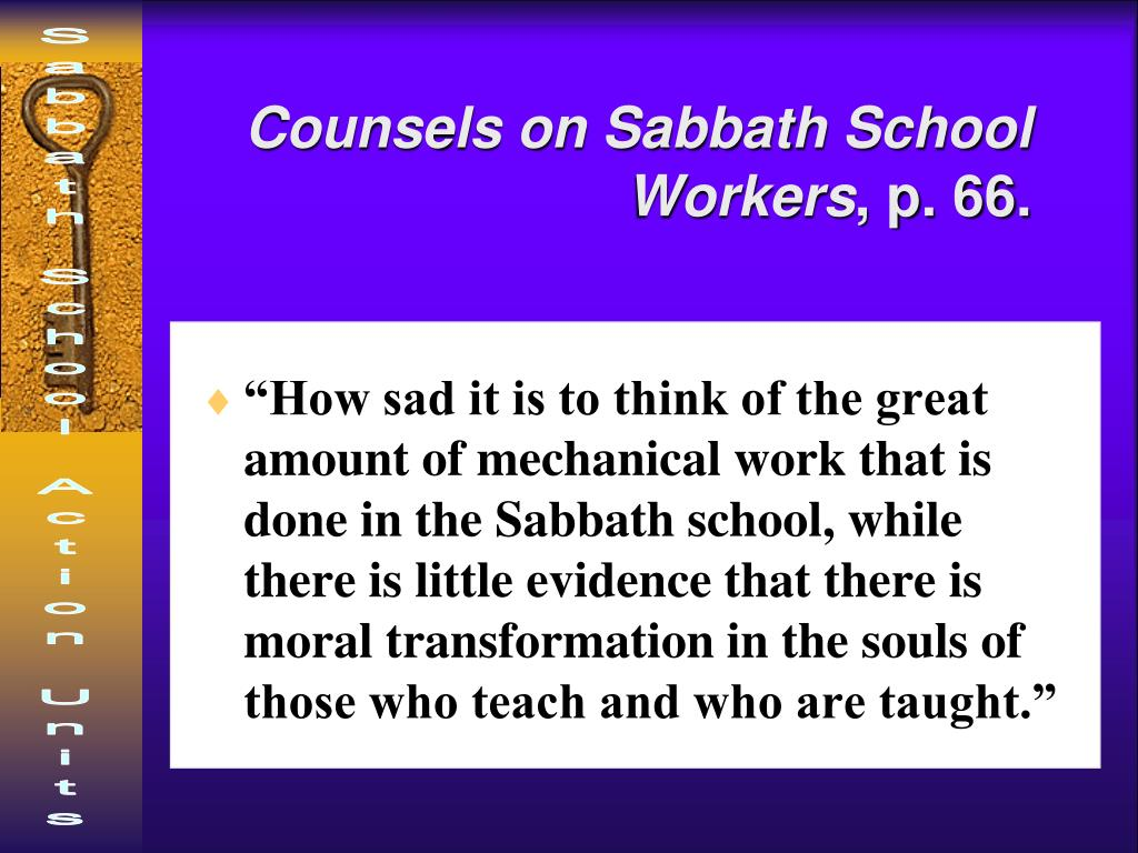 Counsels on Sabbath School Workers