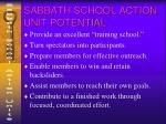 sabbath school action unit potential46