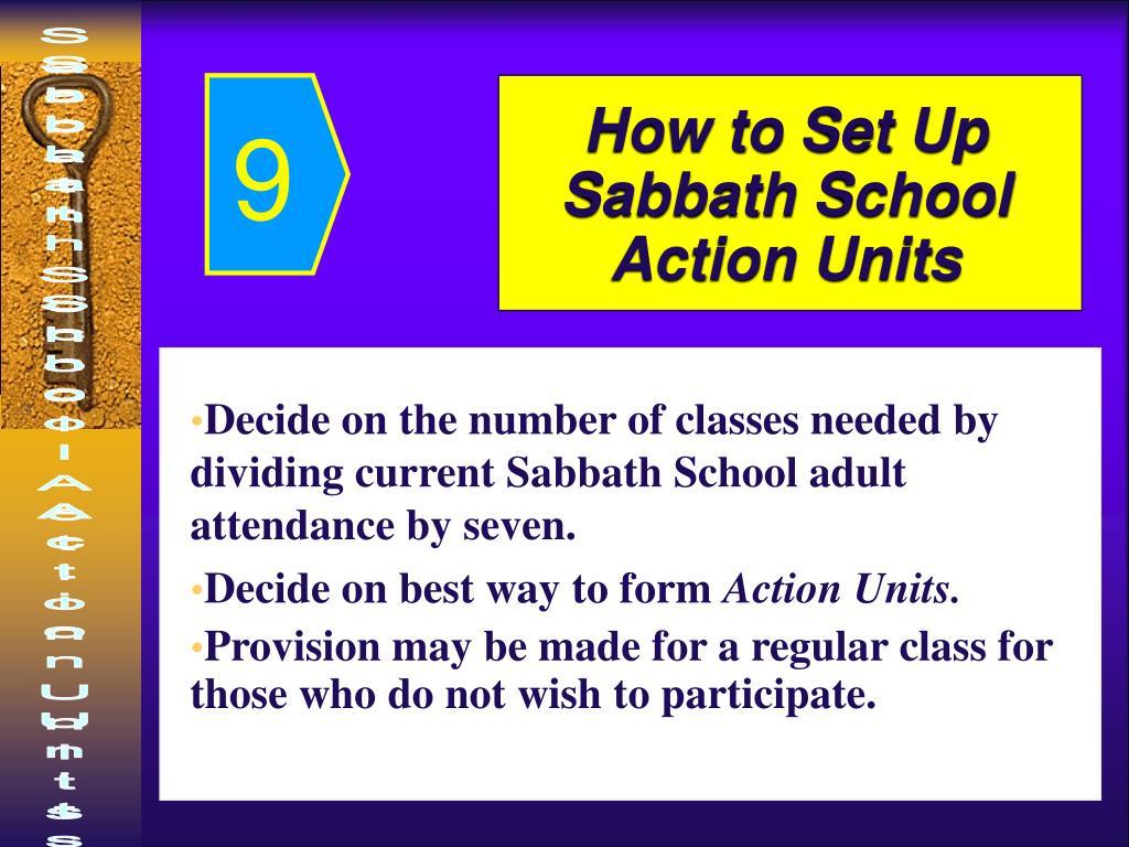 How to Set Up Sabbath School Action Units
