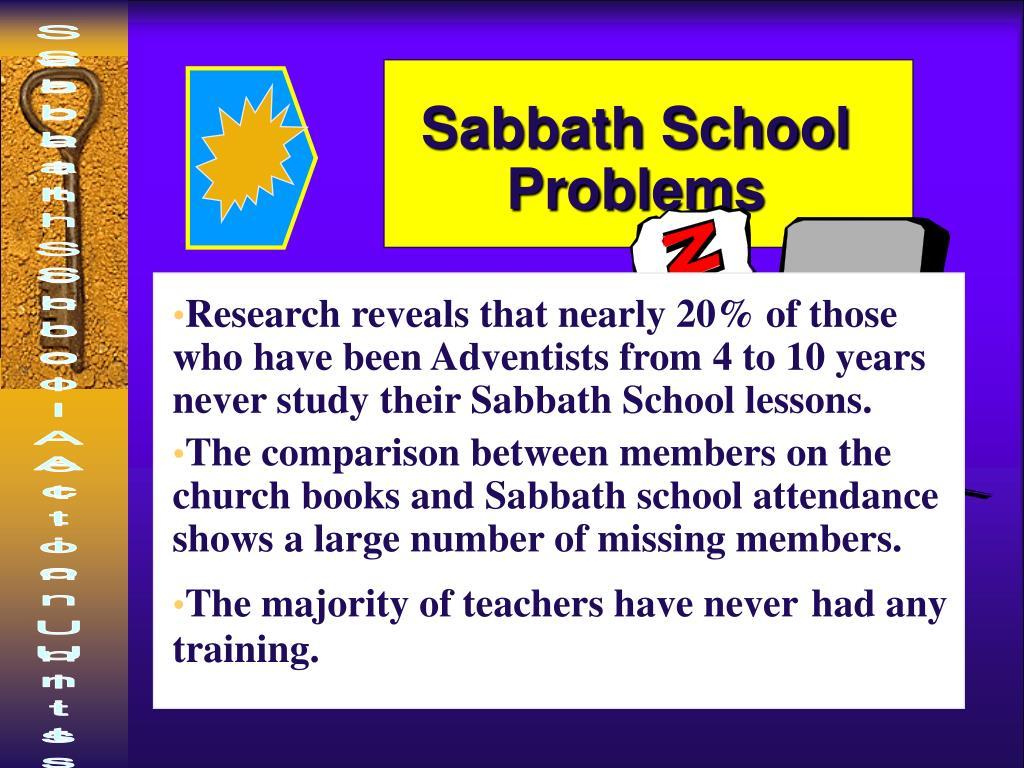 Sabbath School Problems